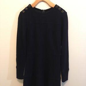 Navy Wool Club Monaco Dress